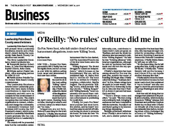 Palm Beach Post Business Section Screenshot