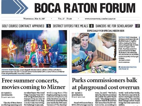 Boca Raton Forum Polin PR story for City of Boca Raton