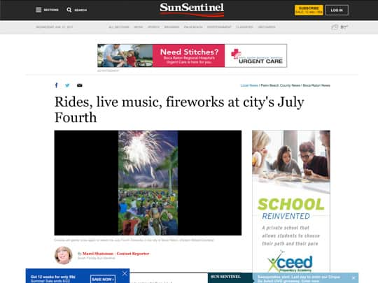 Sun-Sentinel.com article on City of Boca Raton