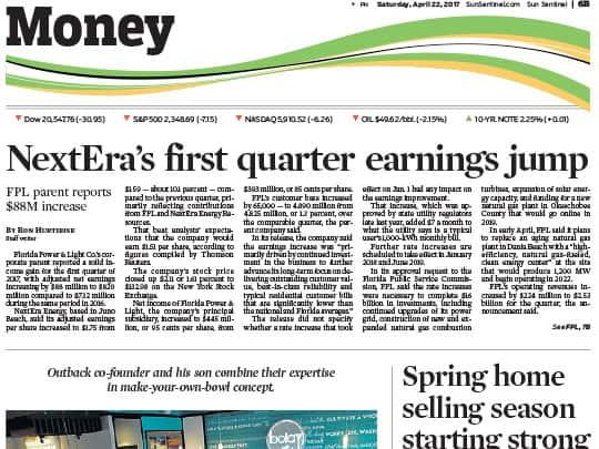 Sun Sentinel Money section