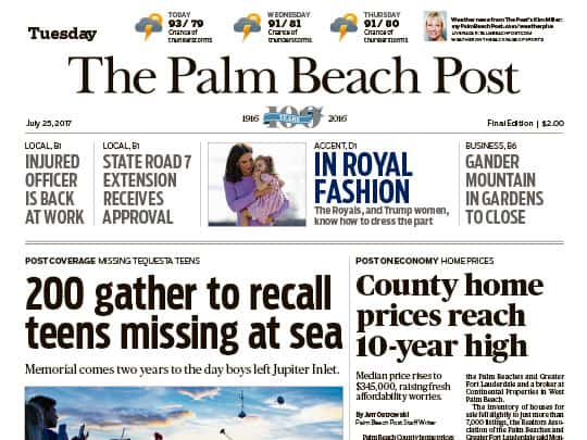 palm beach post cover placement polinpr