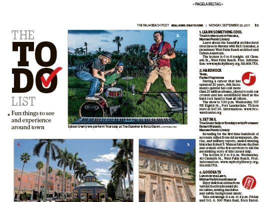 Mizner Park Amphitheater Palm Beach Post Polin PR placement