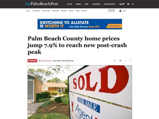 mypalmbeachpost.com article, PolinPr placement
