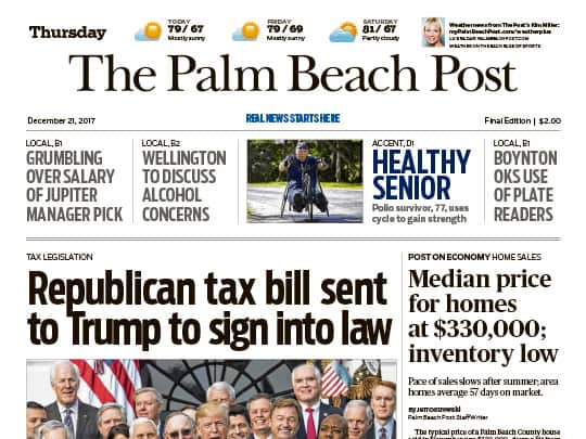 Polin PR placement Palm Beach Post story