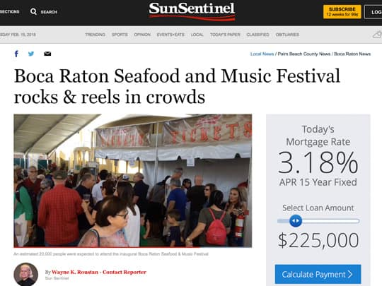 Boca Raton Seafood and Music Festival rocks & reels in crowds