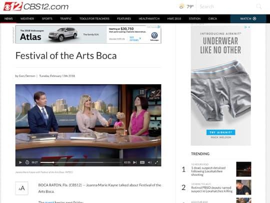 Festival of the Arts BOCA story on CBS12.com