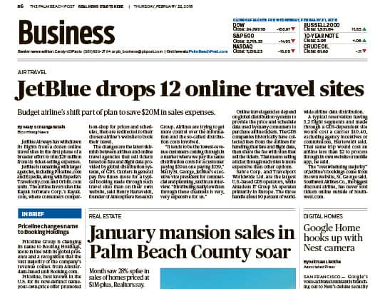 Polin PR placement Palm Beach Post Business - Realtors of Palm Beaches Greater Ft Lauderdale