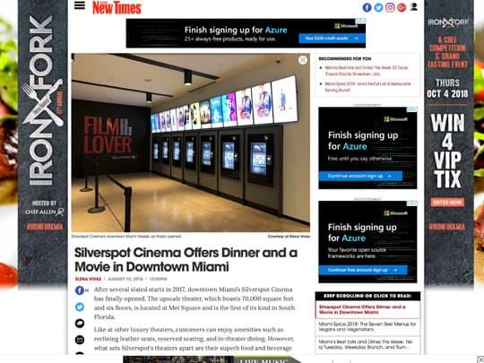Polin PR placement Silverspot Cinema miaminewtimes.com