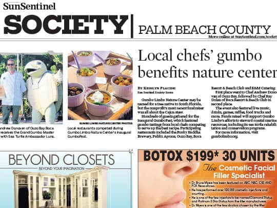 Polin PR placement, Sun-Sentinel Society Section, City of Boca Raton