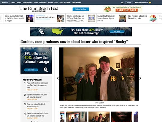 Polin PR placement Cobb Theater PalmBeachPost