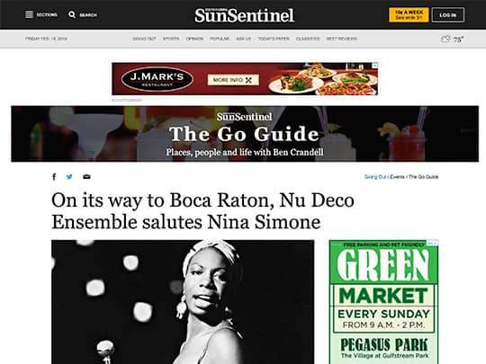 Polin PR placement on Sun-Sentinel.com for Festival of The Arts Boca