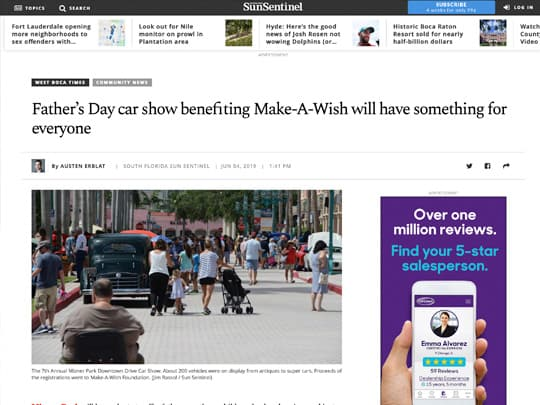 Father's Day car show benefiting Make-A-Wish will have something for everyone Sun-Sentinel.com screenshot