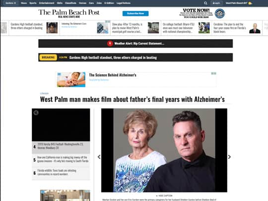 Polin PR placement for Eric Gordon at PalmBeachPost.com