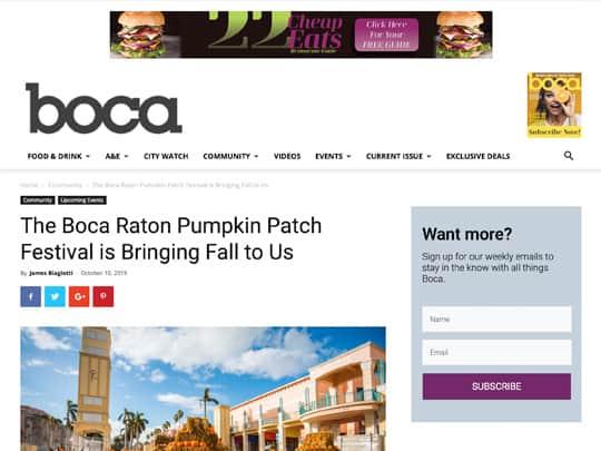 polin pr placement for City of Boca Raton on BocaMag.com