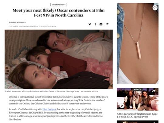 Newsobserver.com placement Film 919 Polin PR