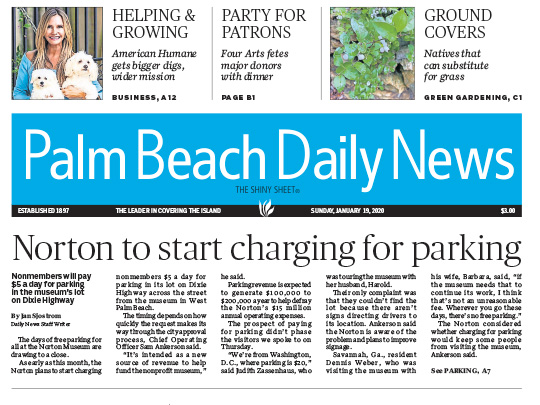 Polin PR placement for American Humane in Palm Beach Daily News