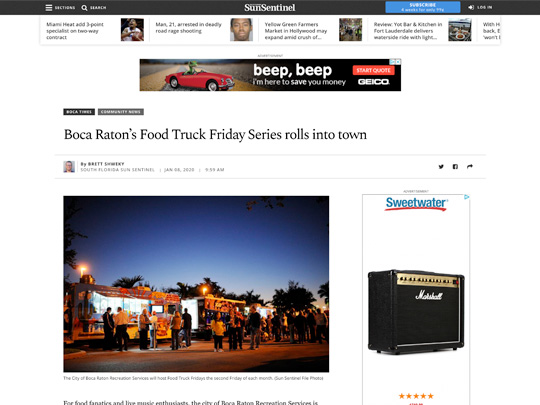 Polin PR placement on Sun-Sentinel.com