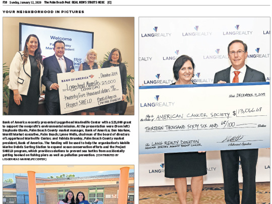 Polin PR placement ad in PB Post for Lang Realty