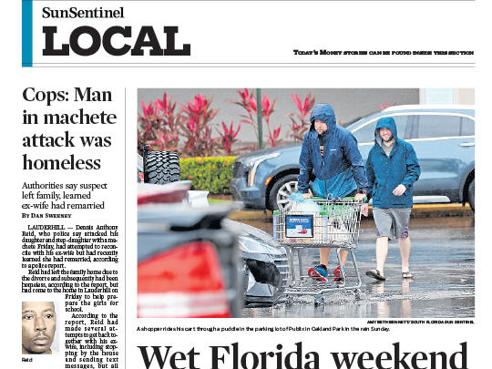 Sun-Sentinel local section w placement by Polin PR