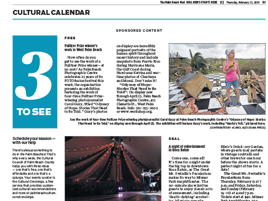 Polin PR placement in Palm Beach Post for City of Boca Raton
