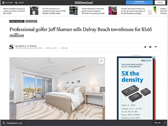 polin pr placement sun-sentinel.com lang realty