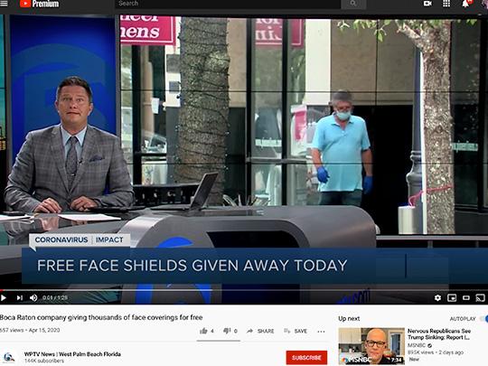 polin pr placement on WPTV News for SA Company