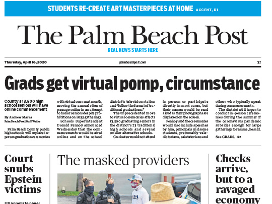Polin PR placement Palm Beach Post for SA Company