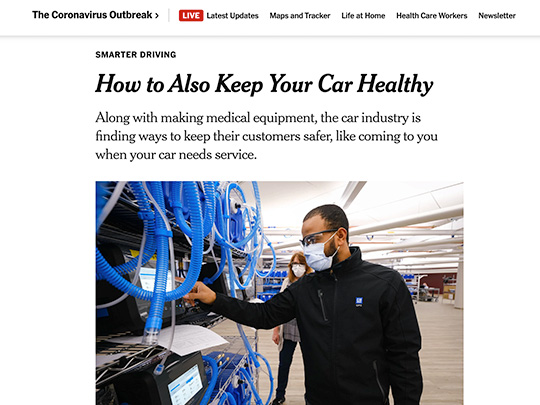 polin pr placement for Sheehy Auto Stores in NYTImes.com