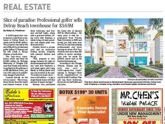 Polin PR placement in Delray Sun for Lang realty