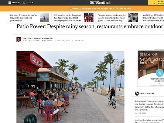 Polin PR placement for Mizner Park at Sun-Sentinel.com