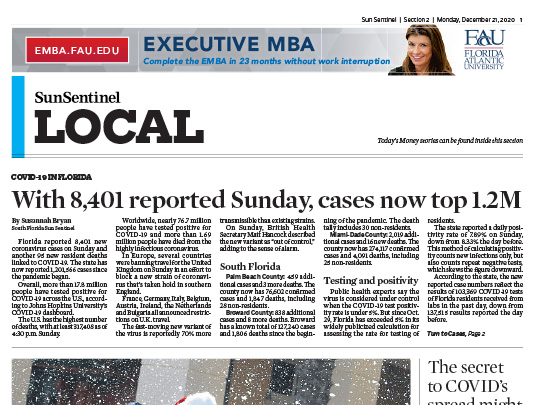 Legacy Place placement in Sun Sentinel by Polin PR